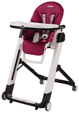 Peg Perego Siesta High Chair, Berry