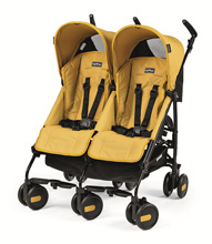 Peg Perego Pliko Mini Twin Stroller Mod Yellow