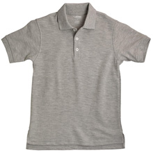 French Toast 50% Off School Uniform Boy Pique Polo, Grey