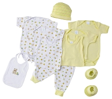 Baby Time Big Oshi 10 Pieces Layette Gift Set Yellow