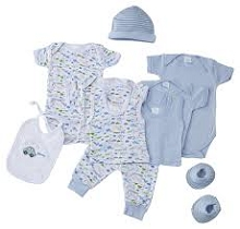Baby Time Big Oshi 10 Pieces Layette Gift Set Blue