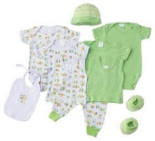 Baby Time Big Oshi 10 Pieces Layette Gift Set Green