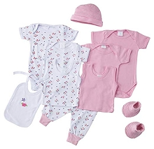 Baby Time Big Oshi 10 Pieces Layette Gift Set Pink