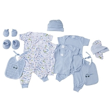 Baby Time Big Oshi 15 Pieces Layette Gift Set Blue