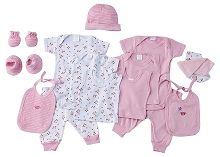 Baby Time Big Oshi 15 Pieces Layette Gift Set Pink