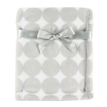 Baby Vision Fleece Blanket Gray Dot