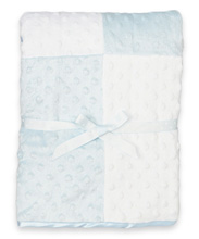 Spasilk  Baby Swiss Dot Blanket-Blue