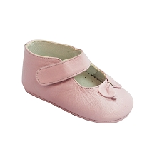 Karela Kids Leather Shoes  Girl Pink