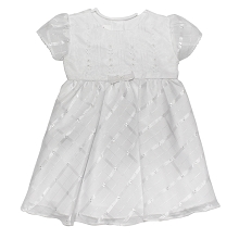 Karela Kids Christening Dress Organza with Flower Applique in White