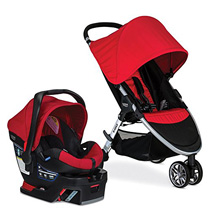 Britax TS 2017, B-Agile & Safe 35 Travel System in Red