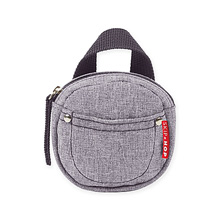 Skip hop Pacifier Pocket in Heather Grey
