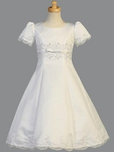 Lito Childrenswear Satin A-Line Communion Dress Plush Size