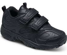 Stride Rite Cooper Hook & Loop, Wide Width, Black - Little Kids