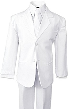 Onwar Communion Boy Suits 5-Pieces White