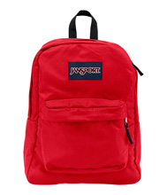 Jansport Superbreak Backpack, Red Tape