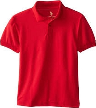 U.S Polo 50% Off School Uniform Polo Boy Red