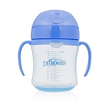 Dr Brown's Soft Spout Transition Cup 6 Ounce Blue
