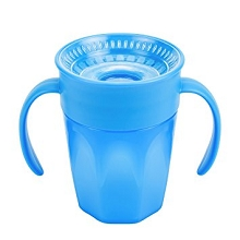 Dr Brown's Cheers 360 Cup with Handles  7 Ounce Blue