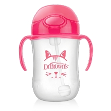 Dr Brown's Baby's First Straw Cup 9 Ounce Pink