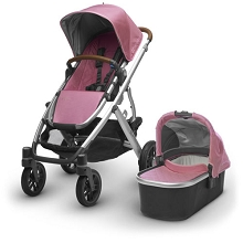 Uppababy Vista Stroller Sabrina (Orchid/Silver Frame/Saddle Leather)