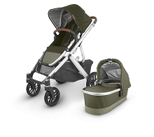 Uppababy 2020 Vista V2 Stroller Hazel (Olive/Silver/Saddle Leather)