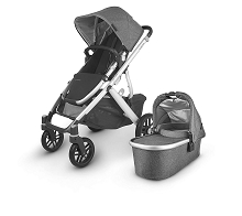 Uppababy 2020 Vista V2 Stroller Jordan (Charcoal Melange/Silver/Black Leather)