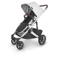 Uppababy Cruz V2 Stroller Bryce (WhiteMarl/Silver/Chestnut Leather)