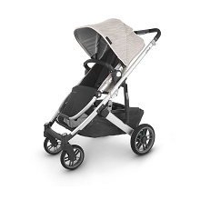 Uppababy Cruz V2 Stroller Sierra (Dune Knit/Silver/Black Leather)