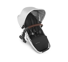 Uppababy RumbleSeat V2 Bryce (White Marl/Silver/Chestnut Leather)