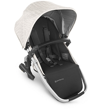 Uppababy RumbleSeat V2 Sierra (Dune Knit/Silver/Black Leather)