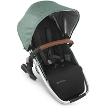 Uppababy RumbleSeat V2 Emmett (Green Melange/Silver/Saddle Leather)