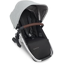 Uppababy RumbleSeat V2 Stella (Grey Brushed Melange/Silver/Chestnut Leather)