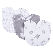 Trend Lab Safari Gray Bib Set 3 Pack