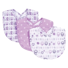 Trend Lab Lambs and Flowers Bib Set 3 Pack