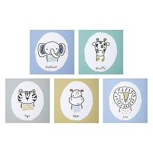 Trend Lab Safari Yearbook Wall Art 5 Pack