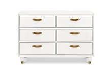 Million Dollar Tanne 6-Drawer Dresser in Warm White