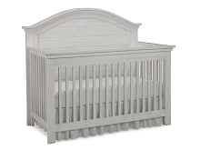 Dolce Babi Lucca Full Panel Convertible Crib, Sea Shell White