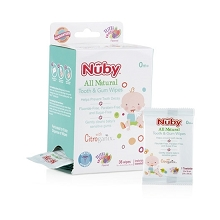 Nuby All Natural Tooth & Gum Wipes 36ct, 0m+