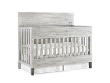 ED Ellen Degeneres Greystone Flat Top Full Panel Convertible Crib in Weathered Barnwood