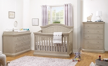 Sorelle Vista Elite Supreme Convertible Crib 4-in-1, Heritage Fog