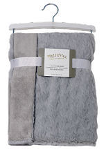 Rose Textiles Rabbit Star Fleece Blanket - Grey
