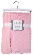 Rose Textiles Rabbit Heart Fleece Blanket - Pink