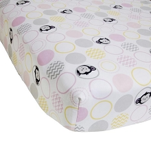 Lambs & Ivy  Pinkie Fitted Crib Sheet Grey/White/Yellow