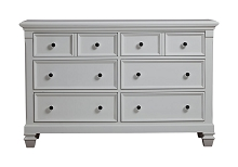 Baby Cache Glendale Double Dresser Pure White