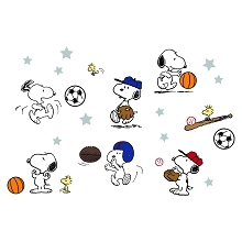 Lambs & Ivy Snoopy Sports Wall Appliques