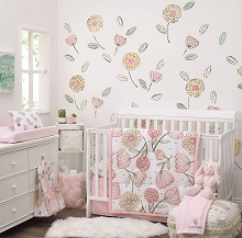 Nojo Dreamer Beautiful Floral Bedding Crib Set 10 Pieces