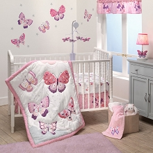 Bedtime Original Bedding Crib Set 3-Pieces Butterfly Kiss