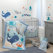 Bedtime Original Whales Tale Bedding Crib Set 3 Pieces