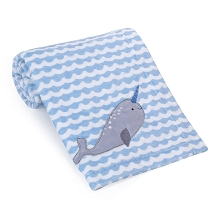 Bedtime Original Whale Tale  Baby Blanket