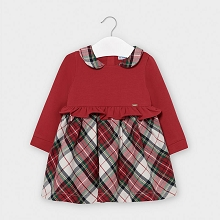 Mayoral Plaid Girl Dress Carmine 6-24 Months